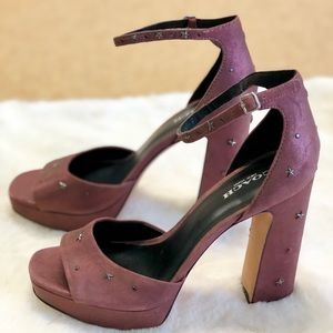 Coach New York suede Mary Jane heels size 7